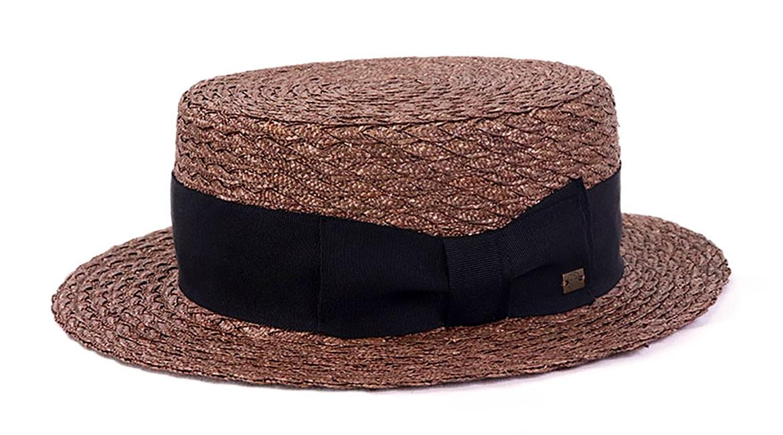 カンカン帽 茶色 湘南スタイル