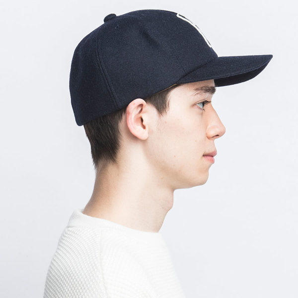 H PATCH WOOL MELTON BASEBALL CAP