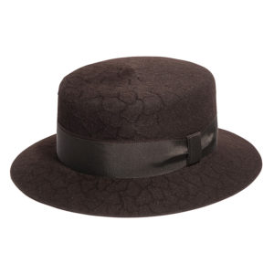 RABBIT HAIR VELOUR EMBOSSING HAT