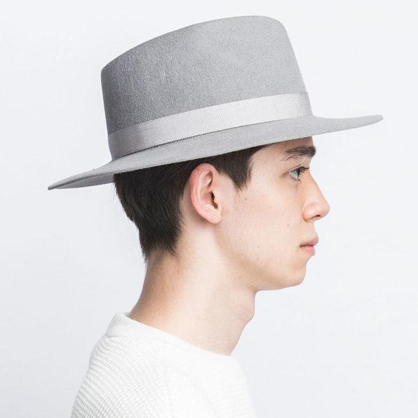 RABBIT HAIR VELOUR FOLD HAT