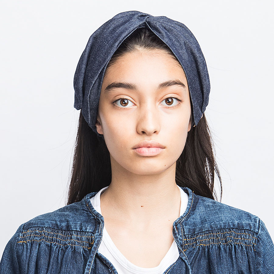 LIGHT OUNCES DENIM HAIR BAND