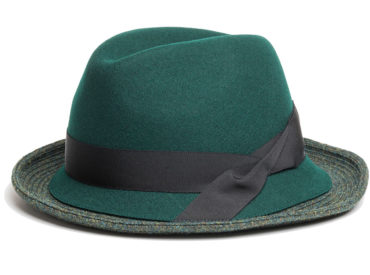 BRITISH WOOL BLADE ASYNMMETRY FOLD HAT (17AWN-006)