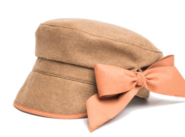 WOOL MELTON CASKET RIBBON CAP HAT (17AWN-009)