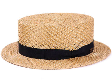 DEADSTOCK MATERIAL STRAW HAT (18SSN-012)